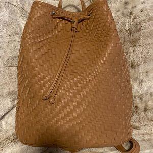 Deux lux woven Baxter soft vegan leather backpack